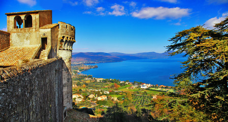 view of lake from Castle Odescalchi di Bracciano, Italy