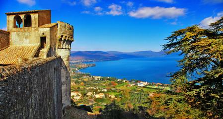 view of lake from Castle Odescalchi di Bracciano, Italy