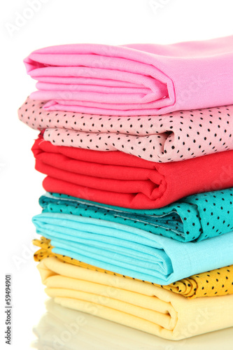 Cloth fabrics isolated on white