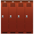 Set of the lockers