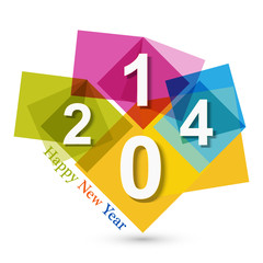 Happy new Year 2014 beautiful celebration background holiday ill