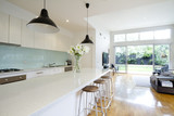 Contemporary kitchen living room