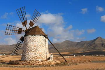 Old wind mill in Fuerteventura. Canary Islands.