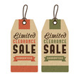 Set of discount sale labels