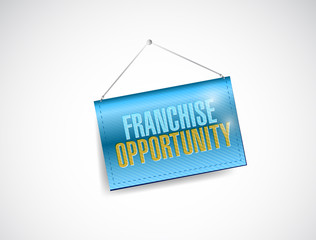 franchise opportunity hanging banner