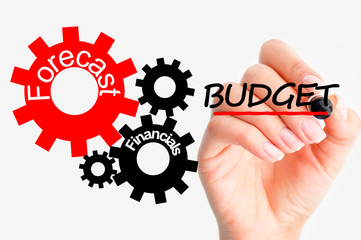 Adjust budget concept