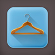 Wooden clothes hangers, long shadow icon