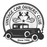 Car club or garage grunge stamp, vector illustration