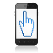 Marketing concept: Mouse Cursor on smartphone