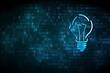 Business concept: Light Bulb on digital background