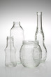 Various glass bottles isolated.