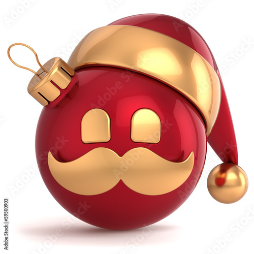 Christmas ball avatar Santa Claus hat New Year bauble