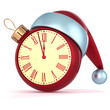 Happy New Year Christmas ball alarm clock bauble decoration