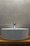 Elegant washbasin in bathroom