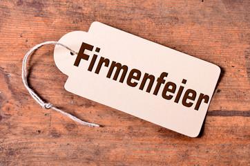Firmenfeier Schild Tafel Holz Rustikal