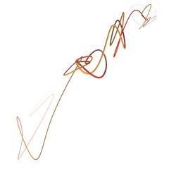 Scarabocchio curva linea 3d