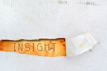 Insight title on old paper