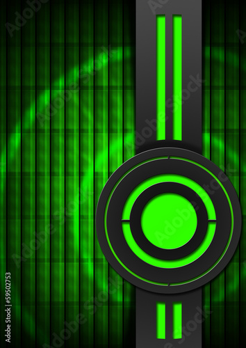 Black and Green Abstract Background