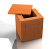 Kiste - Holz Natur D
