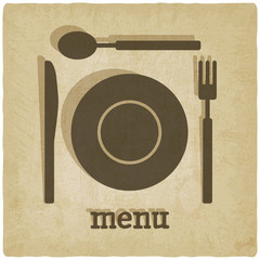menu old background - vector illustration