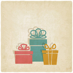 old background with presents - vector illustration