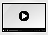 Fototapety Video player for web, minimalistic design