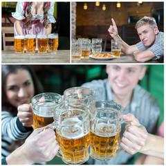 Collage beer  pub