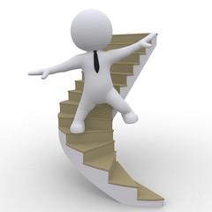 Balance auf der Karriereleiter