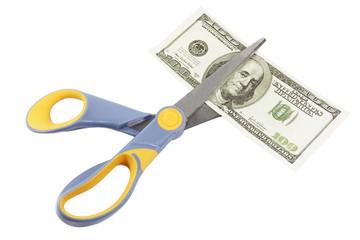 scissors cut a hundred dollar bill
