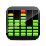 Digital equalizer icon
