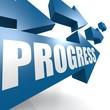 Progress arrow blue