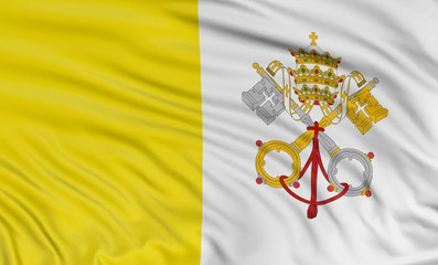 3D Flag of the Vatican City