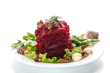 boiled beet and nuts