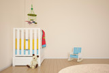 Fototapety Kids play room with bed