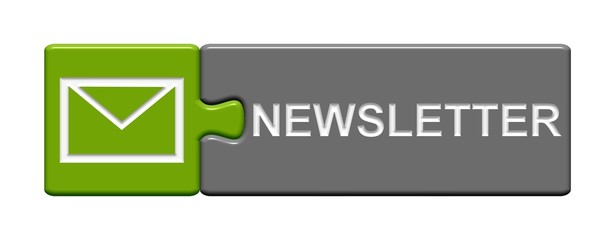 Puzzle-Button grün grau: Newsletter