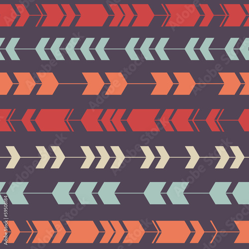 Vector seamless colorful decorative ethnic pattern - 59508184