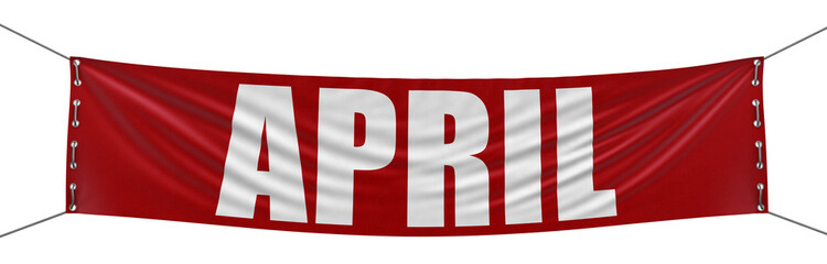 April Banner (clipping path included)