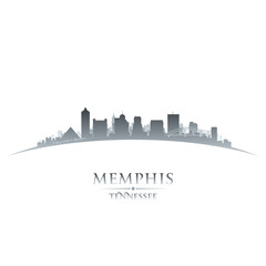 Memphis Tennessee city skyline silhouette white background