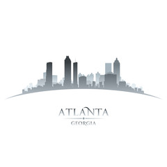 Atlanta Georgia city skyline silhouette white background