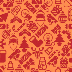 Seamless Modern Christmas Background Pattern