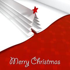 Biglietto di Natale, albero di Natale palline