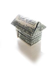 dollar house on white