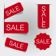 Tags and Labels minimal design vector red theme