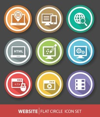 Software and programming buttons,vector