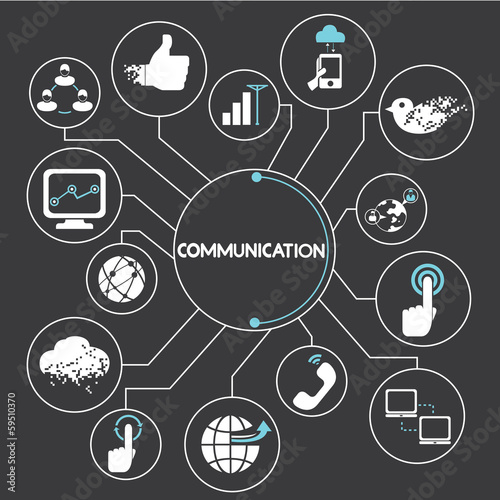 communication network, mind mapping, info graphic