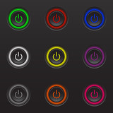 Set buttons of nine different colors.