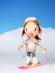 スキーヤー女の子