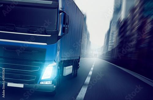 mata magnetyczna Ciężarówka Miasto