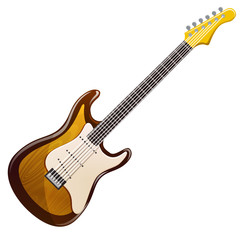 wooden electric guitar