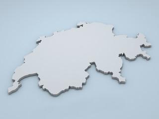 Switzerland 3D map